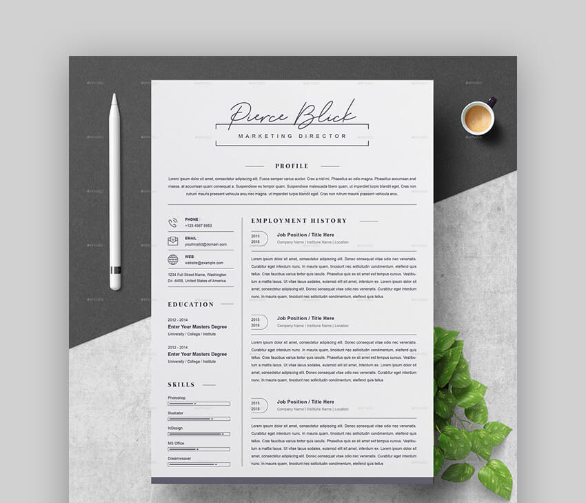 Clean Resume - Basic Resume Template
