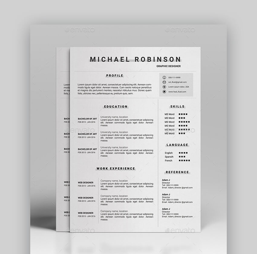 Resume - Simple Resume Template