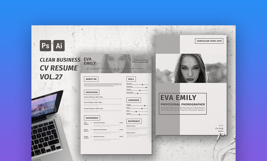 CV Clean Resume - Minimal Resume Template