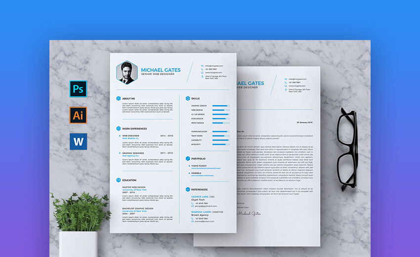 CV Resume - Basic Resume Template
