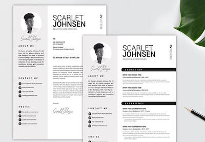 Basic resume templates preview