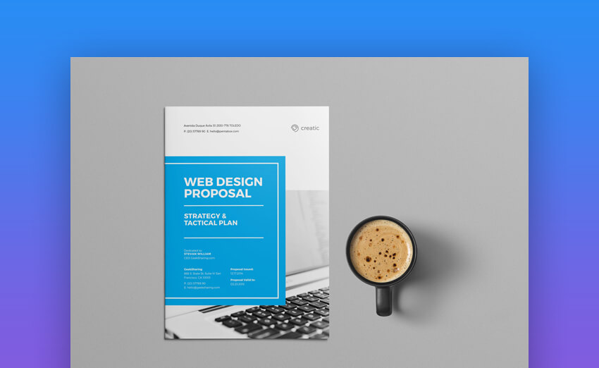 Web Design Proposal - Elegant MS Word Business Proposal for Web Design Projects