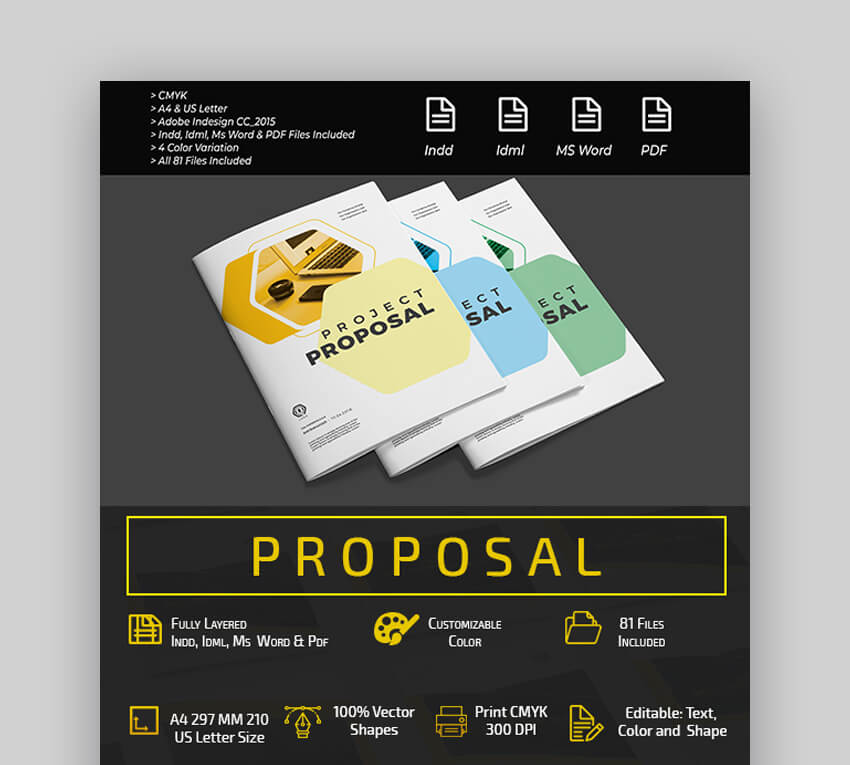 Proposal - Colorful Microsoft Word Business Proposal Template