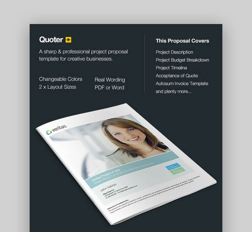 Quoter - Sharp MS Word Business Proposal Template
