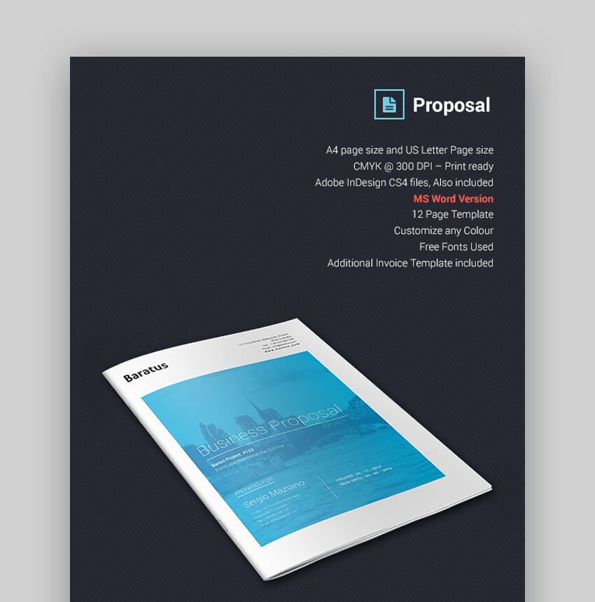 Baratus - Multipurpose Business Proposal Template for MS Word