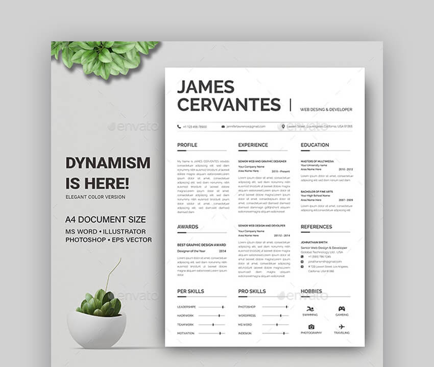 Resume - Quick To Use Resume Template