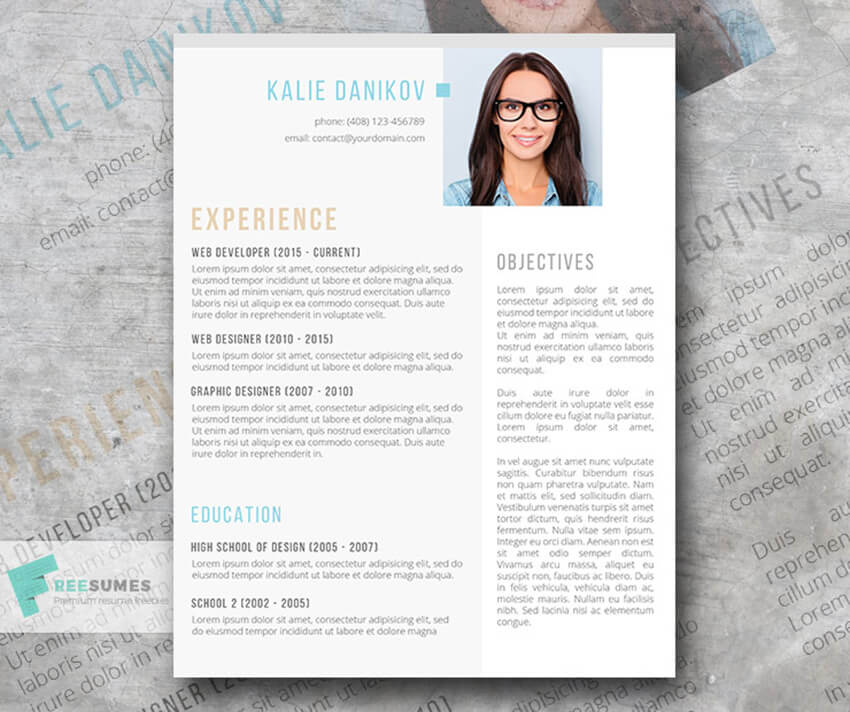 Modern Clean Free Resume For Microsoft Word