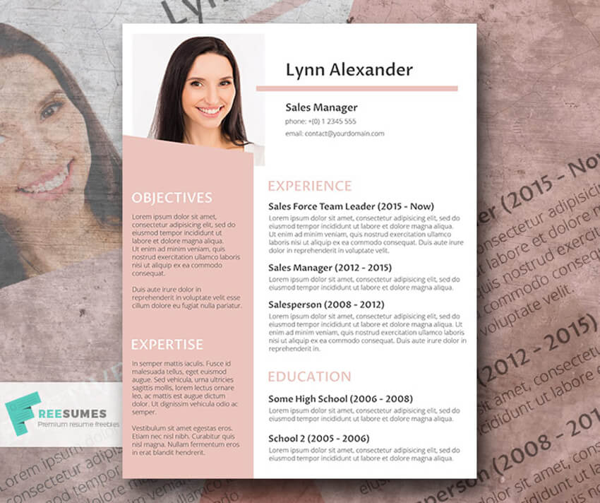 Weightlessness Free Resume Template for Word