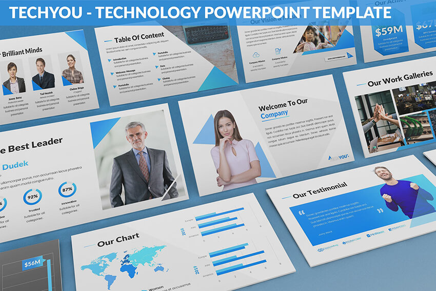 35 Best Science Technology Powerpoint Templates High Tech