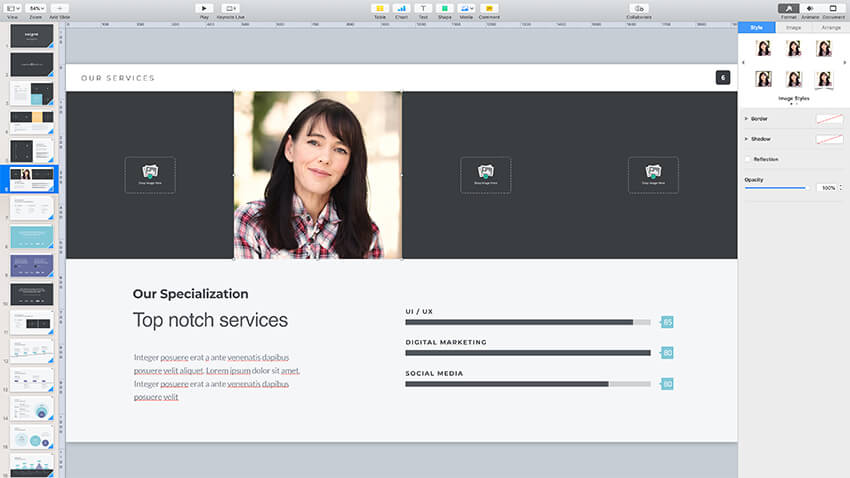 Adding images to the Pitch Werk template
