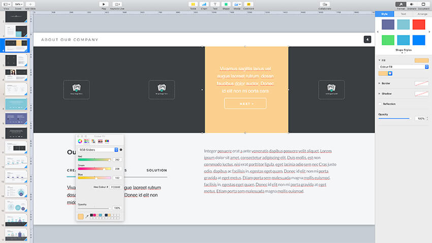 Changing the colors of Pitch Werk template