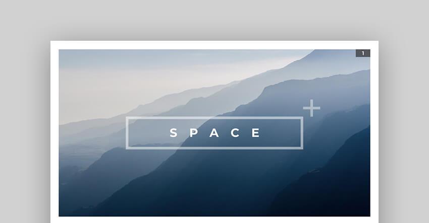 Space - Blue Mac Keynote Presentation Template