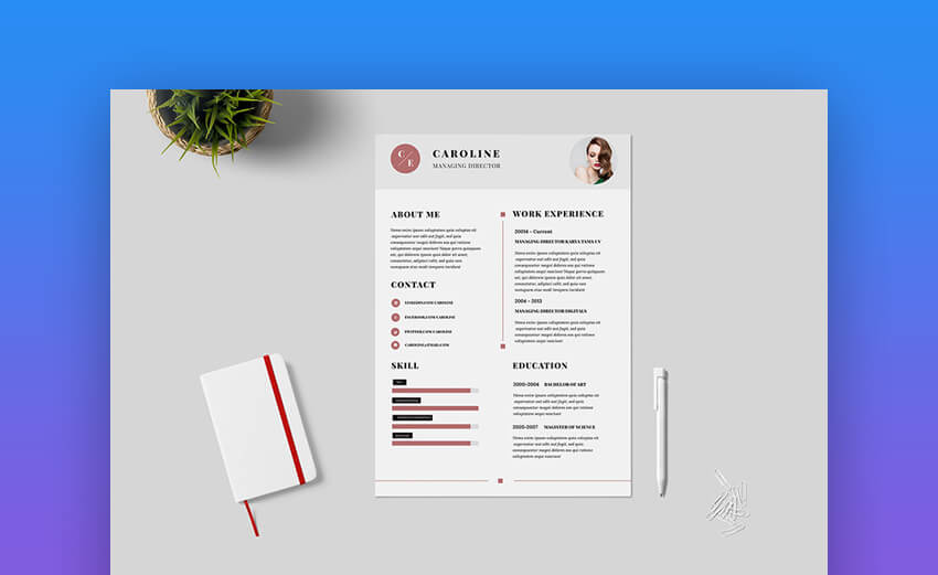 22 Free Minimalist Resume Templates Word Indesign More Cv Designs,Pretty Light Pink Toe Nail Designs