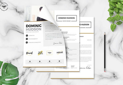 Minimalist resume templates preview