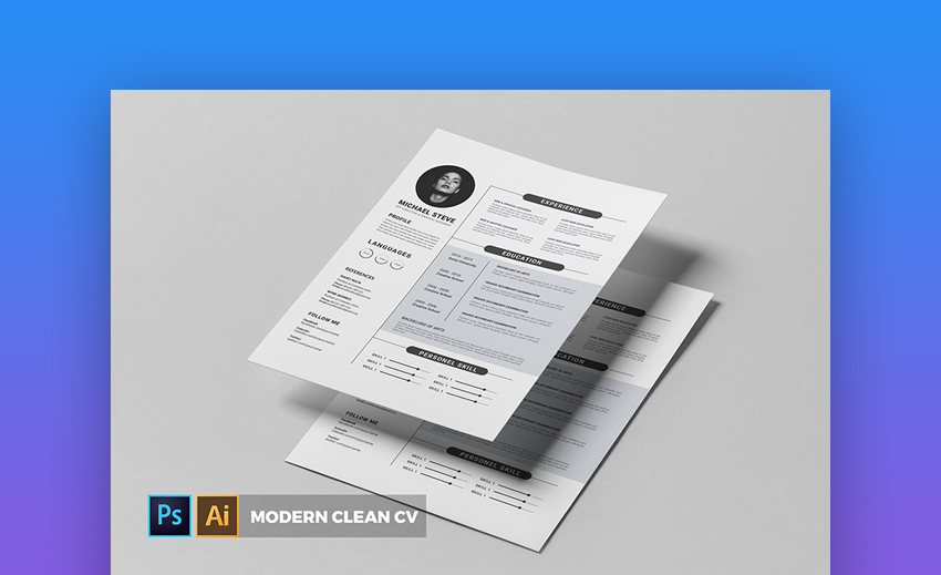 Modern CV and Resume - Eye-Catching Resume Template