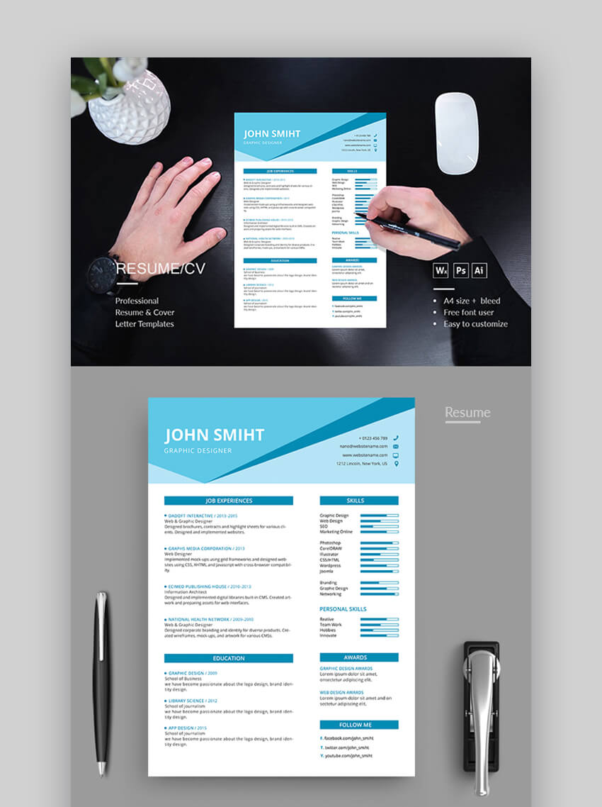 Resume - Contemporary Resume Template With Stylish Aesthetics