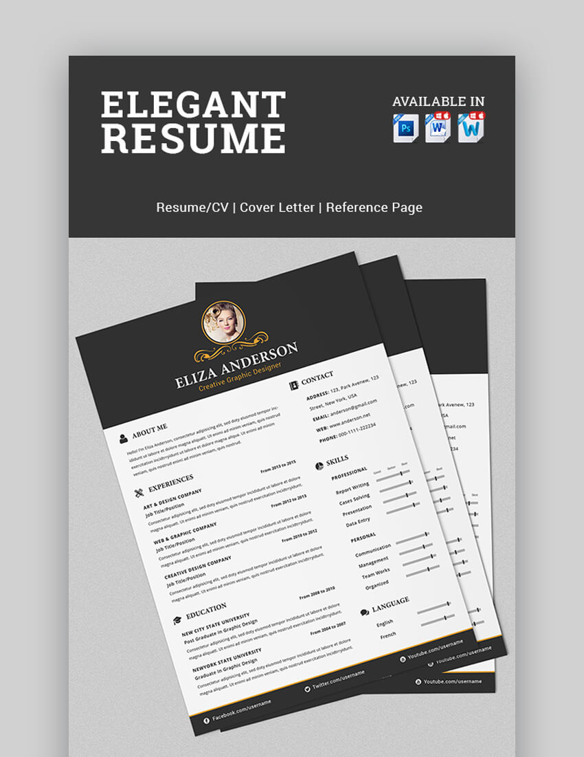 Elegant Resume - Visually Attractive Resume