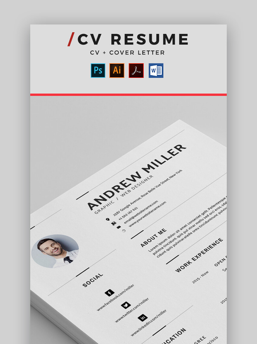 Resume - Contemporary Resume Template