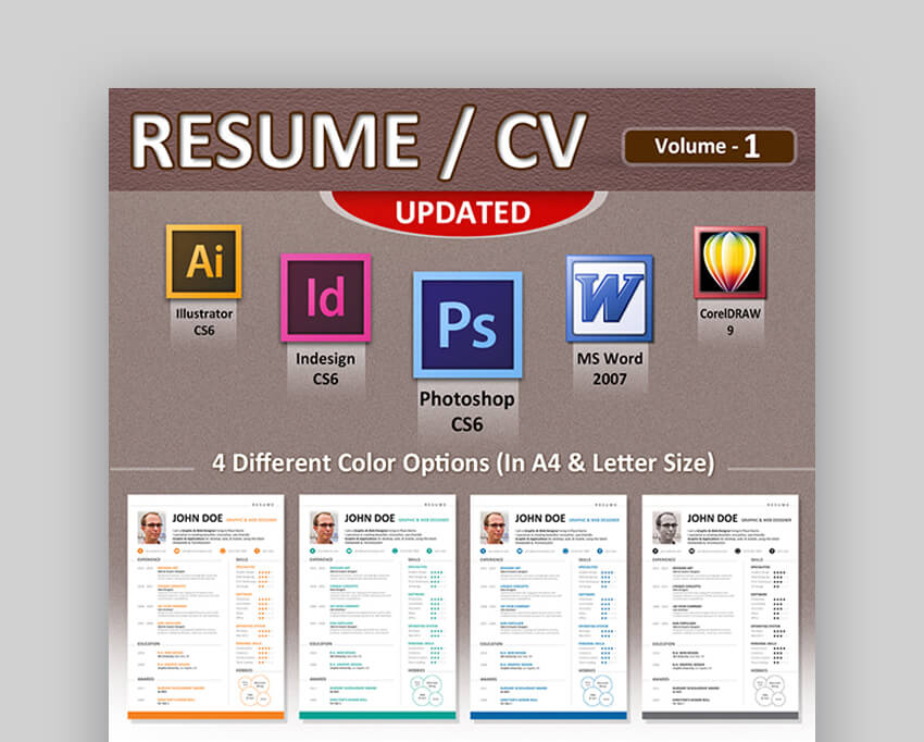 Resume CV - Attractive Resume Template