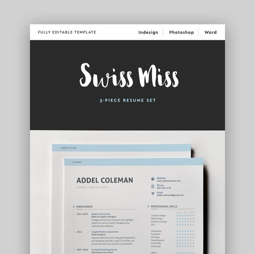 Resume - Minimal Attractive Resume Template