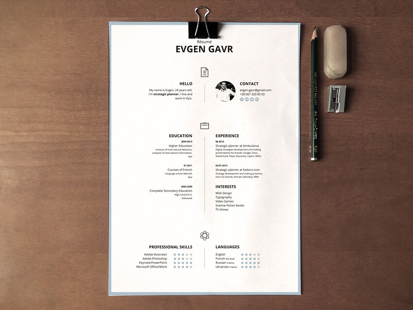 Laconique Template Free Resume Template for Pages