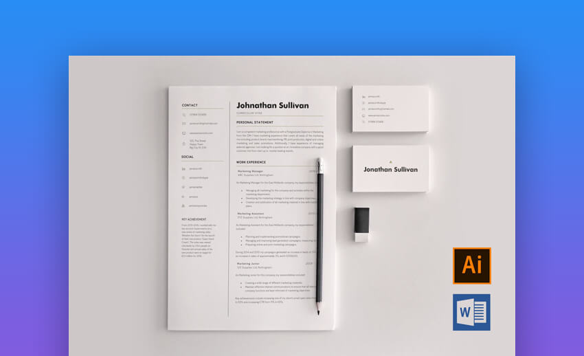 20 Best Free Pages Ms Word Resume Cv Templates Download For Mac 2020