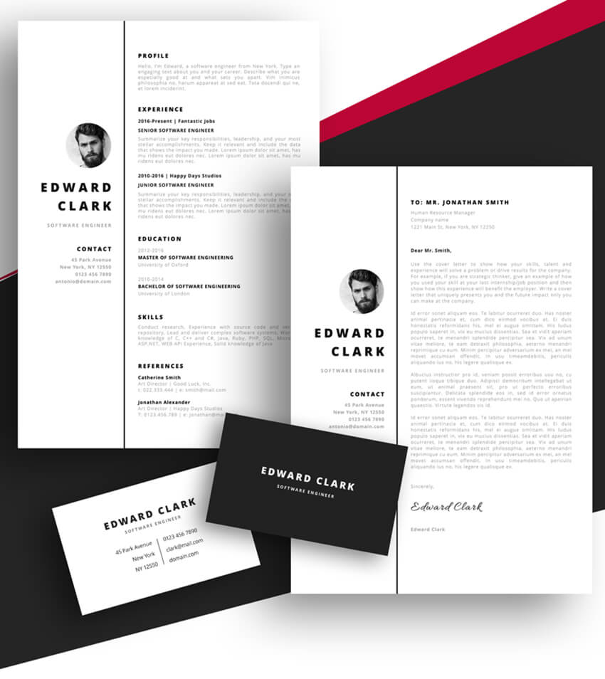 20 Best Free Pages Ms Word Resume Templates For Mac 2019