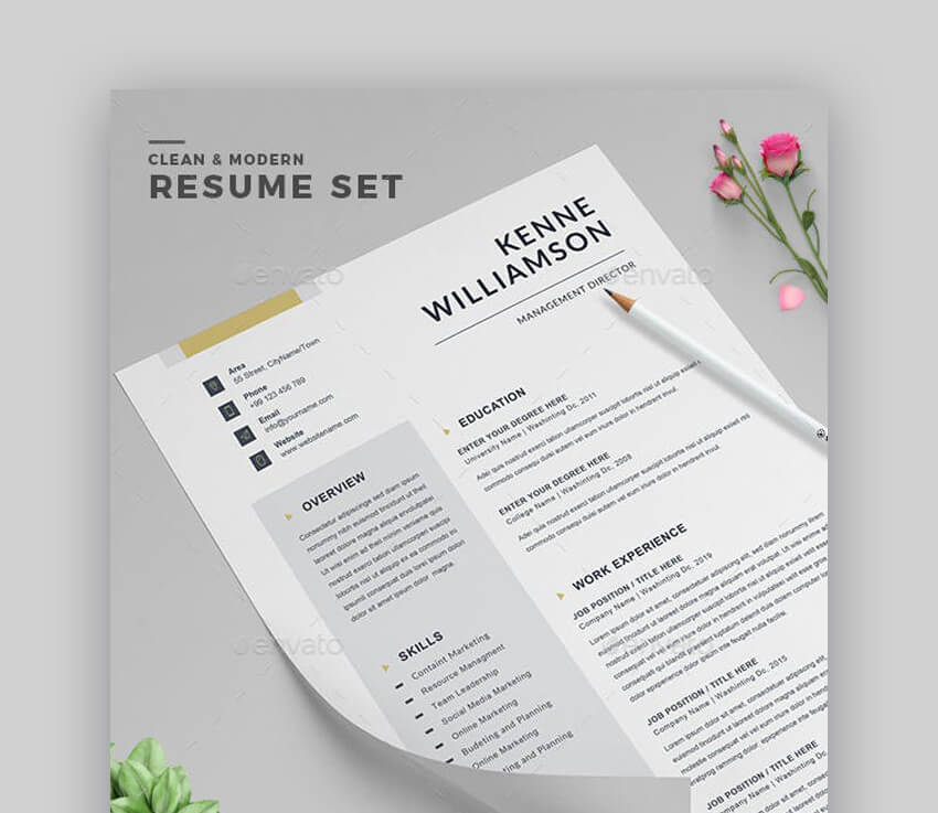 Resume - Clean Resume for PDF Export