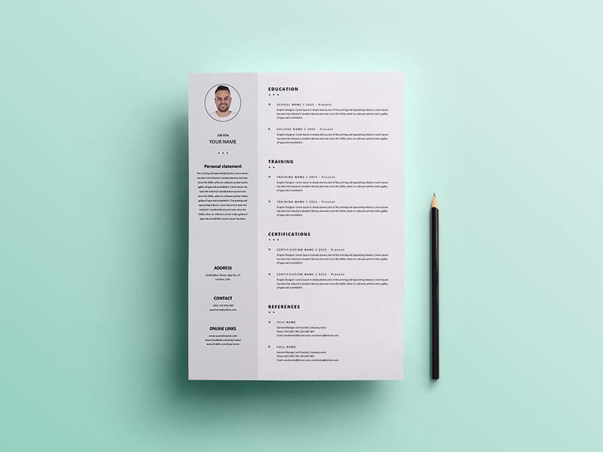 Free Formal Resume Template in PDF Format