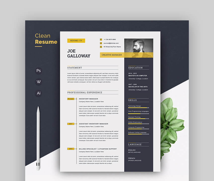Resume - Colorful Resume Template