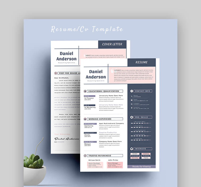 Resume - Amazing Resume Template for PDF Export