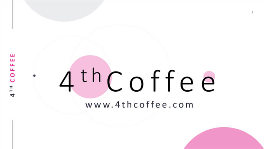 4th Coffee Cute Presentation Template