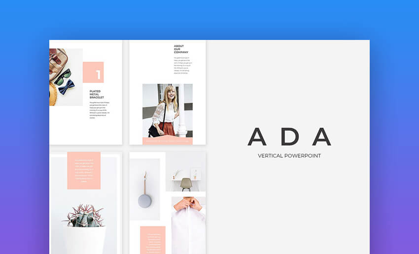 Ada - Vertical Cute PowerPoint Presentation