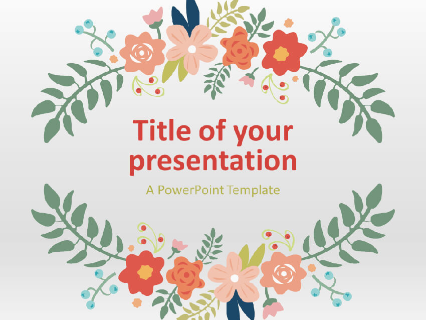 Floral Spring Playful PowerPoint Presentation