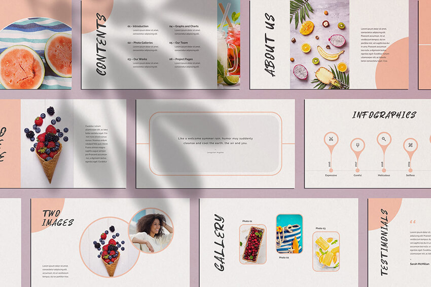 Nectarine Playful PowerPoint Template