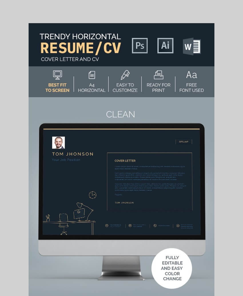 Trendy Resume CV Template