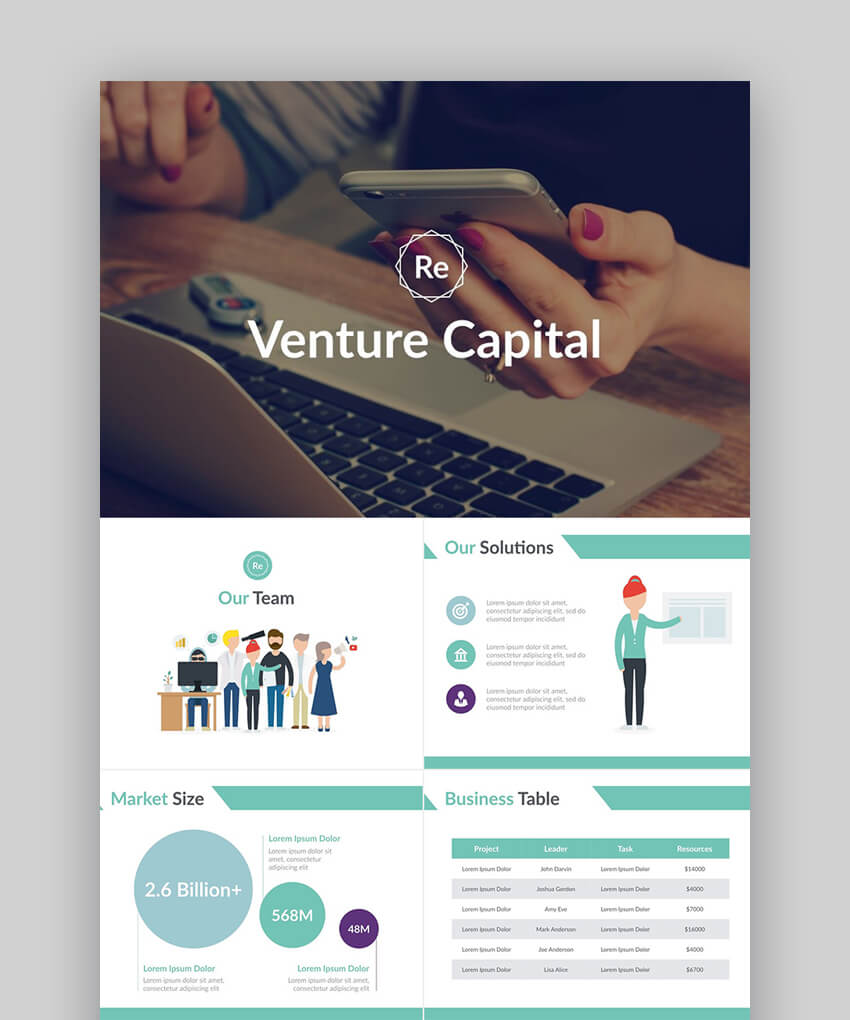 Startup Pitch Deck - For Business Plan Presentations