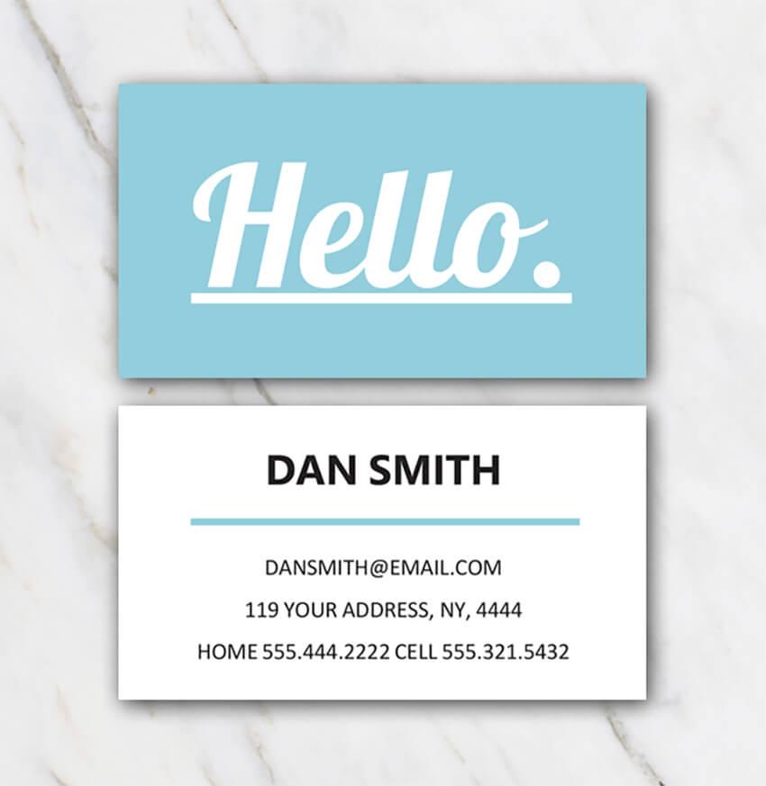 Dan Smith Free Microsoft Word Business Card Template