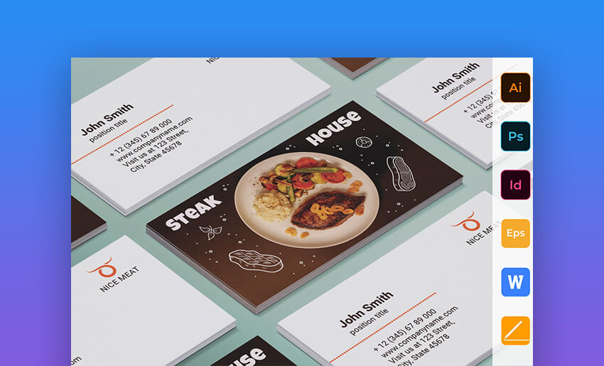 25 Free Microsoft Word Business Card Templates Printable Ready 2019