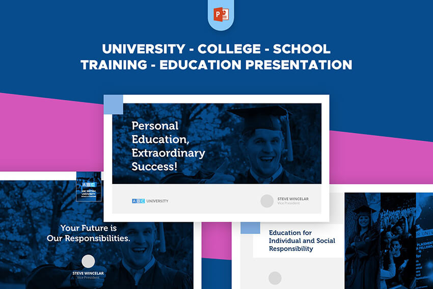 University School Education PowerPoint Template