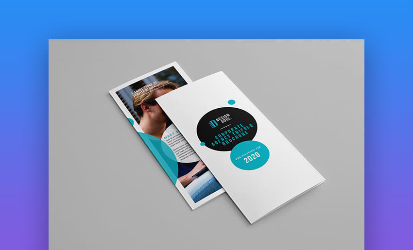 Trifold Brochure - Modern Brochure Design Template for Photoshop