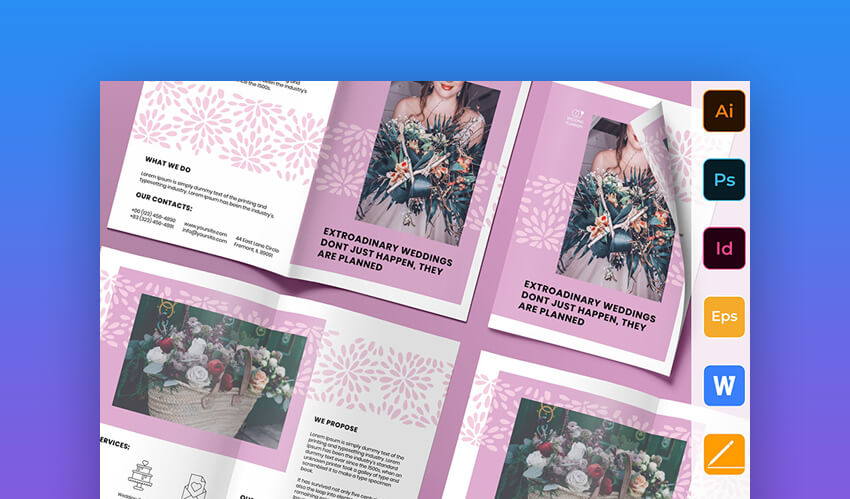 Wedding Planner Brochure - Elegant Photoshop Brochure Templates