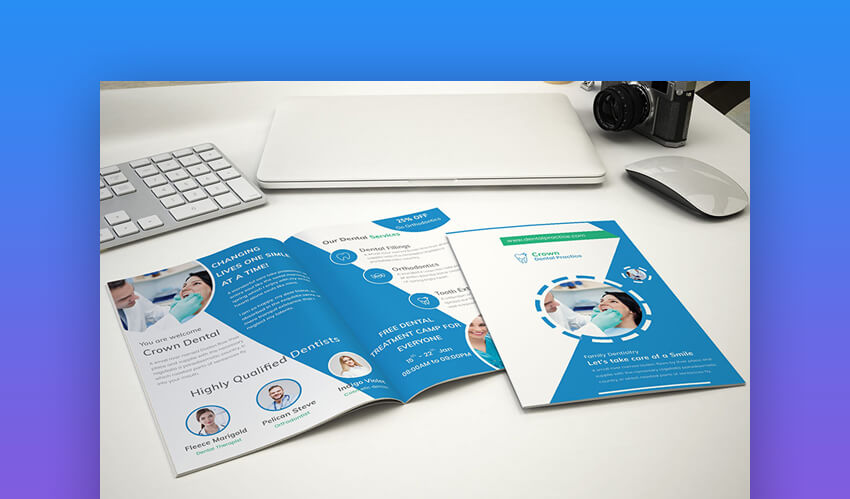 Doctor Bifold Brochure - Brochure Design Template for Photoshop