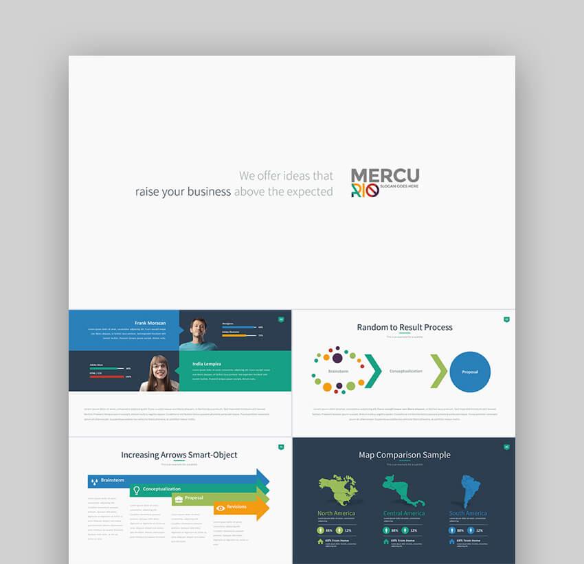 Mercurio - Versatile PowerPoint Presentation Template Design