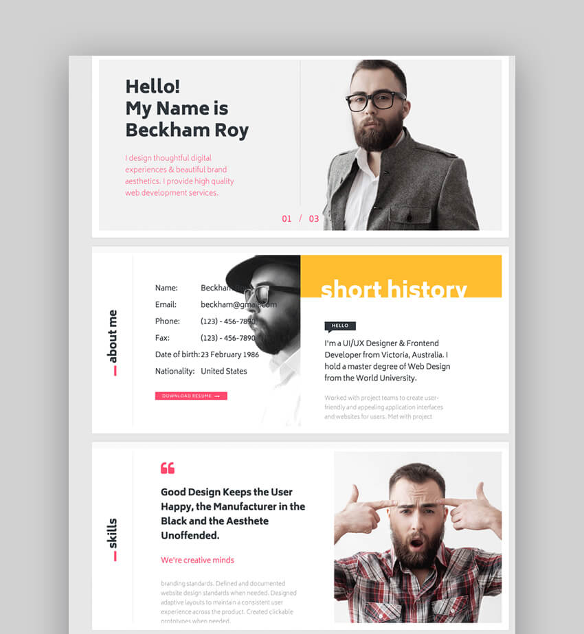 MUU - Creative and Interactive ResumeFolio Template