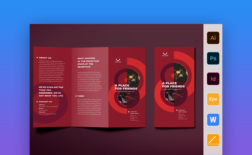 Pub - Business and Corporate MS Word Brochure Template