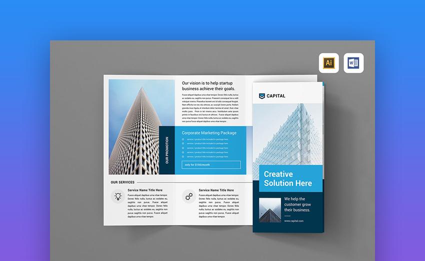 Brochure - Clean Brochure Template Design for MS Word