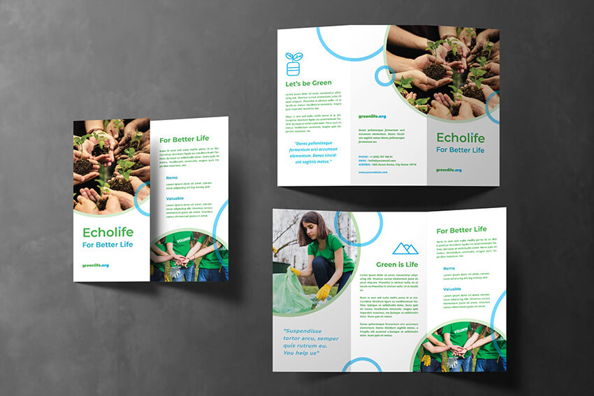 Charity Brochure Design With CTA