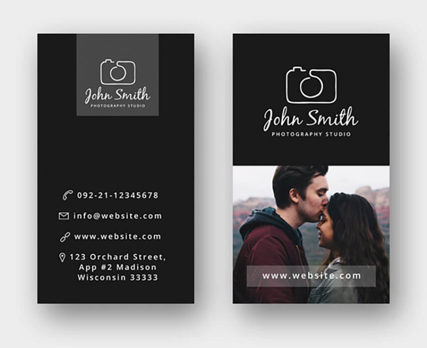 Free Business Card Template for Photographers