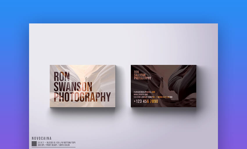 Photographer - Business Card With Photo Design